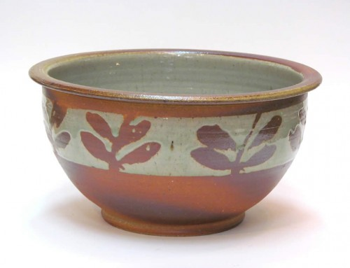 Wax decorated large bowl