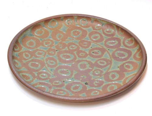 Wax decorated platter