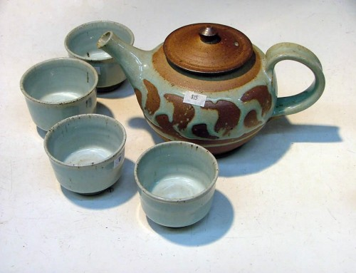 Woodfired teapot & cups