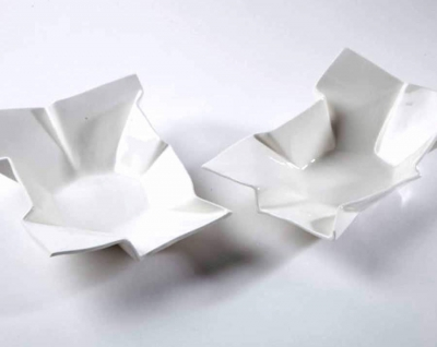 "Julie Collis ""Crumpled Paper Bowls"""