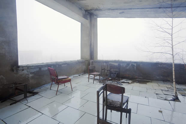 Pripyat, Former restaurant in Hotel Pripyat Ukraine.  By Andrej Krementschouk. 2009. (Recording the Chernobyl disaster)